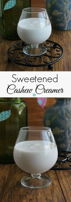 Sweetened Cashew Creamer is fast, simple and creamy. Make an easy weekly batch and this wonderful fat free option can always be on hand.