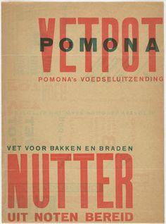 Piet Zwart - Pomona's Nutter Vetpot, (Nut based oil products) 1923