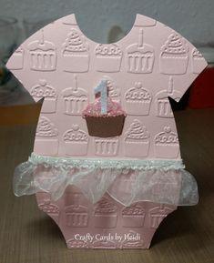 Baby cards diy happy 37 ideas for 2019 First Birthday Cards, Homemade Birthday Cards, Baby Girl 1st Birthday, Cute Cards, Cards Diy, Baby Girl Cards, Happy 1st Birthdays, Baby Crafts, Kids Cards