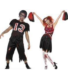 Great couples #Halloween costume - Zombie Cheerleader and Footballer