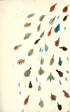 leaves by Kat Frank, via Behance