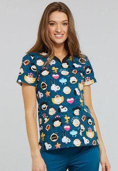 Tooniforms Women Multi-Color Workwear Scrubs for sale Scrubs For Sale, Cute Scrubs, Mama Cloth, Cherokee Scrubs, Scrub Tops, V Neck Tops, Work Wear, Fashion Brands, Floral Tops