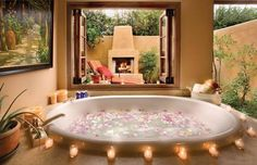 Romantic home spa
