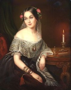 Portrait of A Young Lady by Yelena Koroleova Female Portrait, Portrait Art, Female Art, Victorian Portraits, Victorian Paintings, Victorian Women, Victorian Art, Classical Art, Oeuvre D'art