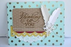 Great card using pieces from our spring catalog box kit