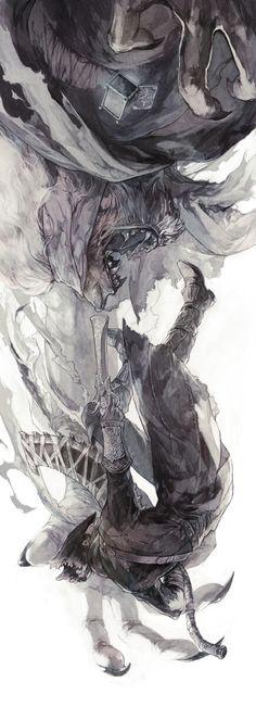 Bloodborne The Old Hunters, Bloodborne / ブラボまとめ / August 2015 - pixiv Fantasy Kunst, Fantasy Art, Bloodborne Art, Bloodborne Concept Art, Desu Desu, Dark Souls Art, Old Blood, Soul Art, Fan Art