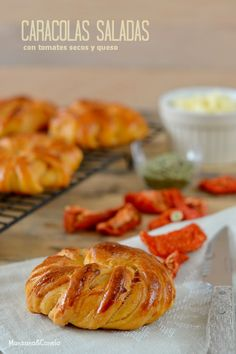 Manzana&Canela: Caracolas saladas de tomates secos y queso (taller...