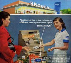 Kroger store cash registers (1957)