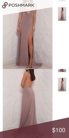 Long gown Long gown. Taupe color. High slits on both sides of legs. Abyss By Abby Dresses Maxi