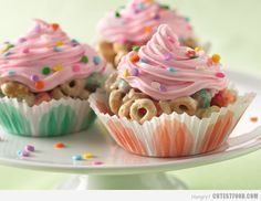 Cupcake Cereal Treat