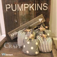 Fabric Pumpkin Pillow