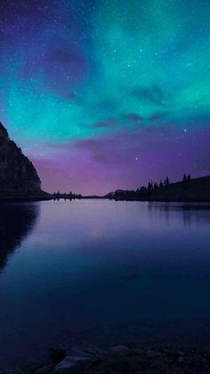 Lake Night Sky Wallpaper