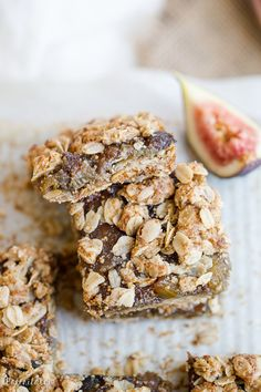 Oatmeal Fig Bars (Gluten Free + Vegan)