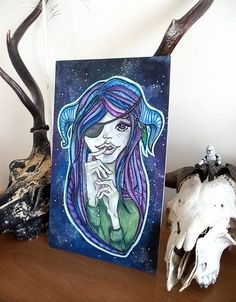 Title: N/A {Pirate Space} Pastel and Watercolour / Art {?}