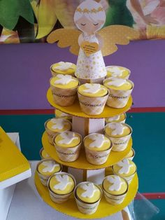 Cupcakes at a Baptism Party #baptism #party