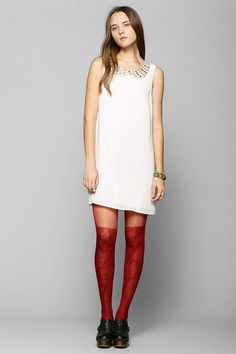 Coincidence & Chance Encrusted-Collar Shift Dress #urbanoutfitters