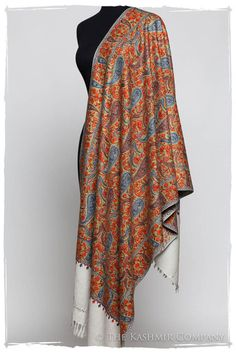 The Antiquaires Shawl Collection Embroidery Scarf, Paisley, Kashmiri Shawls, Cashmere Shawl, Head Wrap Scarf, Indian Wear, Indian Style, Pashmina Shawl, Mens Fashion Suits