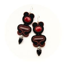 Unique long earrings bohemian jewellery bead embroidery by MANJApl, $43.00