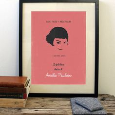 Amélie poster, minimalist movie poster by OurBrokenHouse on Etsy https://www.etsy.com/listing/154804589/amelie-poster-minimalist-movie-poster