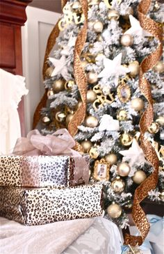 Wonderful animal print gift wrap along side The Yellow Cape Cod