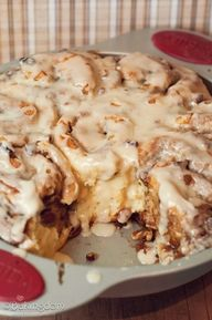 Easy Maple-Pecan Cinnamon Rolls--because you and I both know I couldn't make them if they weren't...