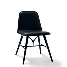 Fredericia - Spine stol (sort/sort læder)