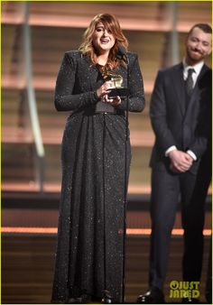 Meghan Trainor Wins Best New Artist at Grammys 2016: Photo #929745. Congrats to Meghan Trainor!    The 22-year-old musician won the Best New Artist honor at the 2016 Grammy Awards held at the Staples Center on Monday (February 15)…