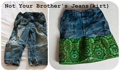 jeans to jeanskirt tutorial