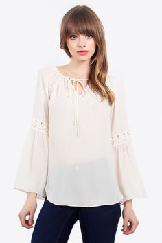 Blouse, IVORY BELLS TOP