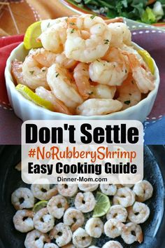 Don't settle for rubbery shrimp! Stove-top shrimp cooks PERFECTLY every single time and takes minutes to make! #shrimp