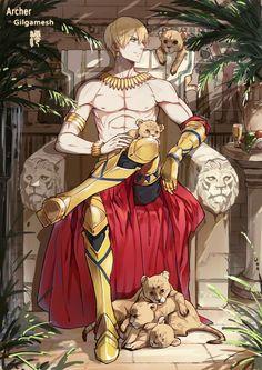 Animes Manga, Anime Garçons, Hot Anime Boy, Anime Comics, Anime Guys, Fate Stay Night Characters, Fate Zero, Fate Archer, Gilgamesh Fate