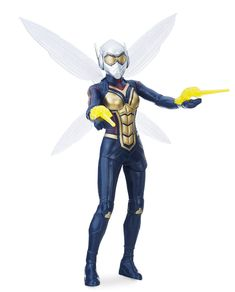 Hope van Dyne proves to be a buzz-worthy hero when she gears up in a winged suit as the Wasp! Inspired by Ant-Man and the Wasp, she comes with 2 stinger accessories, and features flapping wings! Infinity War, Thor, Wasp Movie, Hero Marvel, Avengers Film, Wasp Avengers, Figurine Disney, Antman And The Wasp, Disney Dogs