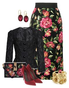 """""""Untitled #2365"""" by anfernee-131 ❤ liked on Polyvore featuring Dolce&Gabbana, 2028, Oscar de la Renta and dolceandgabbana"""