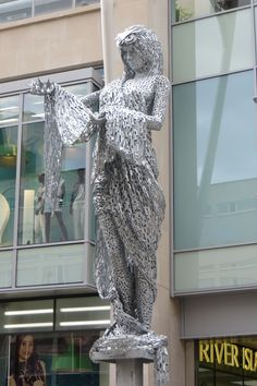 The Minerva Sculpture by Andy Scott at the entrance to Trinity Leeds Shopping Complex, Briggate, Leeds, England