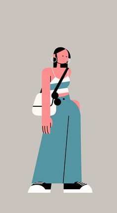 This project is a try that I can design illustrations by 2 different Styles are Characteristic and Flat(Straight). Colors of Two illustrations is simple and same. But I tried to make different graphic roles and shapes. Flat Design Illustration, People Illustration, Illustration Girl, Character Illustration, Digital Illustration, Character Sketches, Girl Illustrations, Animation Character, Illustration Styles