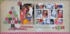 scrapbook+layouts+cheerful+christmas | Christmas Layout