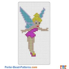 Tinker Bell Perler Bead Pattern and Designs Melty Bead Patterns, Pearler Bead Patterns, Perler Patterns, Beading Patterns, Perler Bead Art, Perler Beads, Hama Beads Disney, Perler Bead Templates, Iron Beads