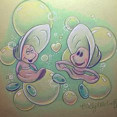 """""""Little oysters in color! Have a happy Wednesday!! #littleoysters #prismacolor #sketch"""""""