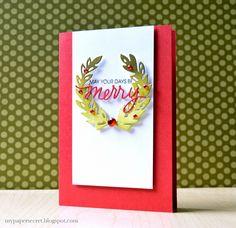 May Your Days Be Merry Card by @cristinak. #EssentialsbyEllen #ellenhutsonllc