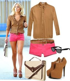Hot Pink Hot Shorts Mollie King sizzling summer style