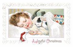 Vintage Cards - Children and Christmas- Free Printable