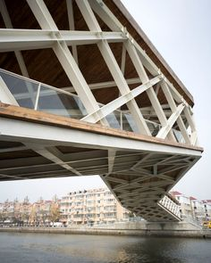Quingpu Pedestrian Bridge, Quingpu, Shanghai, China  - CA-DESIGN #bridge