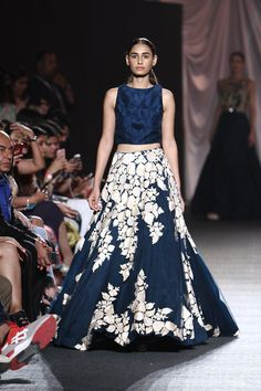 This blue gown by Manish Malhotra was the best outfit seen in his show #LFW #LIFW2016 #Frugal2Fab