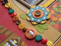 www.buttonsgaloreandmore.com  fall colored buttons I love the vibrant colors Tracy Mc Lennon used.