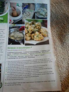 Bloemkool- en broccolibeignets