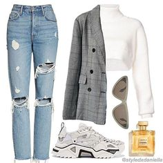 10 Perfect School Outfits For Teen Ideas Polyvore Outfits, Adrette Outfits, Preppy Outfits, Outfits For Teens, Stylish Outfits, Winter Outfits, Preppy Dresses, Fashion Wear, Fashion Outfits