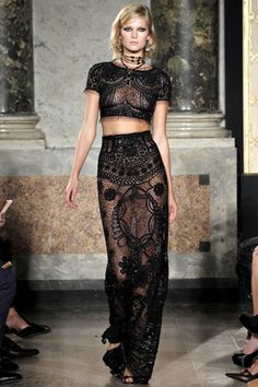 Black as night… Emilio Pucci… two piece… evening look… sheer… sexy… spirited.