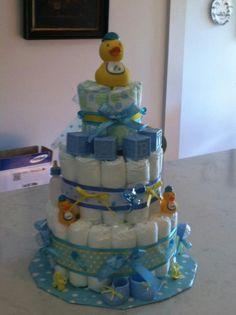 Boy duck diaper cake