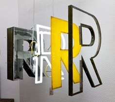 Neon / Metal / Dimensional Letterform / Big Wall installation