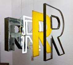 Neon / Metal / Dimensional Letterform / Big Wall installation